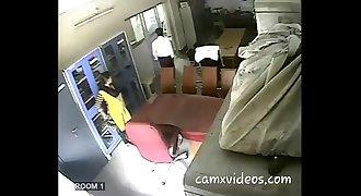 A indian school teacher banging a fellow teacher.