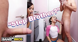 BANGBROS - Teen Holly Hendrix Is Almost Caught Fucking Her Stepbrother