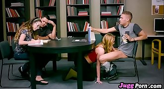 Carter Cruise Typical college grl horny on library