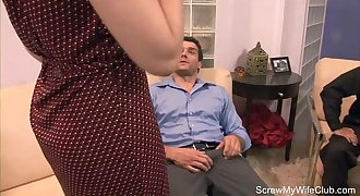 Brown-haired Wife Fucks Total Stranger