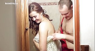 Teen beautiful is fucking plumber like crazy